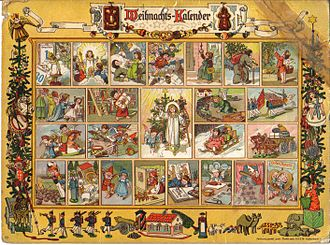 Advent calendar - Image: Richard Ernst Kepler Im Lande des Christkinds