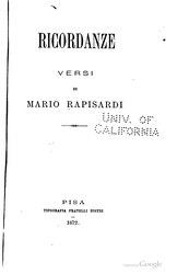 Mario Rapisardi: Ricordanze