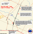 Riegelwood North Carolina tornado track Nov 16 2006.png