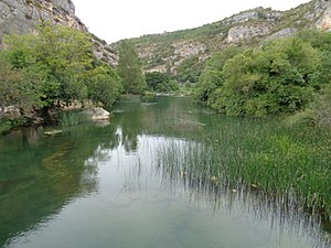 "Krka (Croatia) - Krka River prior to ""Roški Slap"" waterfall"