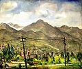 Rinaldo Cuneo, Town and Hills, Utah.jpg