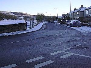 Acre, Lancashire - Image: Rising Bridge Road geograph.org.uk 1108583