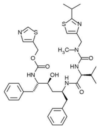 Enzyme inhibitor - Peptide-based HIV-1 protease inhibitor ritonavir