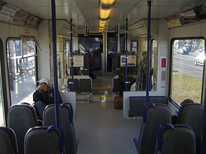River Line (NJ Transit) - The interior of a southbound River Line train