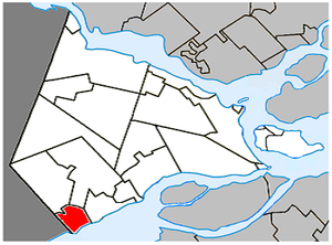 Rivière-Beaudette, Quebec - Image: Rivière Beaudette Quebec location diagram