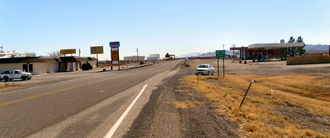 Road Forks, New Mexico - Looking south from Interstate 10