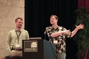 Slashdot - Co-founders Rob Malda and Jeff Bates.