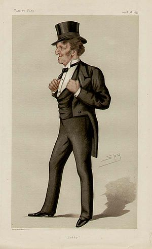 "Robert Bourke, 1st Baron Connemara - ""Bobby"". Caricature by Spy published in Vanity Fair in 1877."