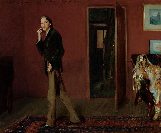 Robert Louis Stevenson and his wife by John Singer Sargent