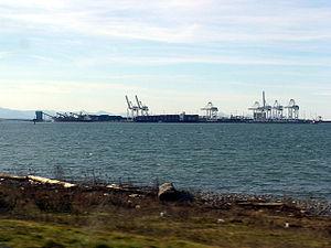 Tsawwassen - Roberts Bank Superport, off of Tsawwassen's western shore.