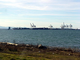 Tsawwassen - Roberts Bank Superport, off of Tsawwassen's western shore.
