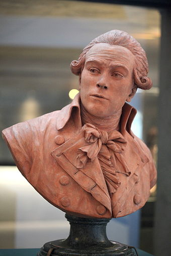 Terracotta bust of Robespierre by Deseine, 1791 (Musee de la Revolution francaise) Robespierre IMG 2303.jpg