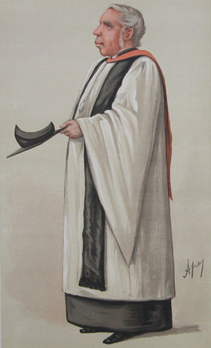 Robinson Duckworth - Rev. Robinson Duckworth, by Ape in Vanity Fair, 1886.