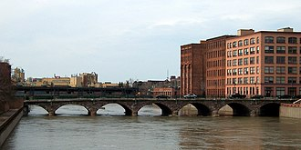 National Register of Historic Places listings in Rochester, New York - Image: Rochester Andrews Street Bridge