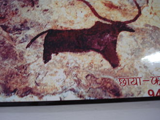 Bhanpura - Rock painting in Bhanpura