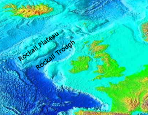 Oceanic plateau - Image: Rockall Plateau and Trough, NE Atlantic