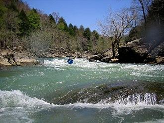 Rockcastle River - A kayak on the Rockcastle River