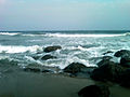 Rocks at RK beach in Vizag.jpg
