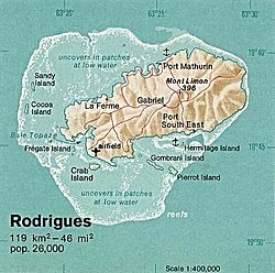 Location of Rodrigues
