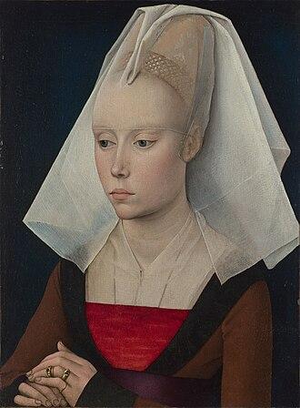 Portrait of a Lady (van der Weyden) - Image: Rogier van der Weyden workshop Portrait of a Lady 1460 (National Gallery London)