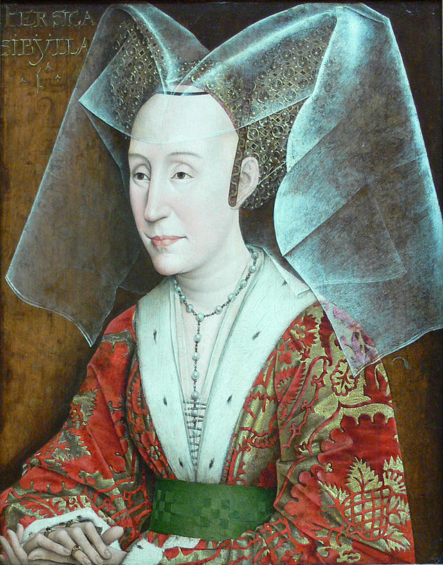 Ventes aux enchères - Année 2014 - Page 17 640px-Rogier_van_der_Weyden_workshop_-_Portrait_of_Isabella_of_Portugal_-_without_frame