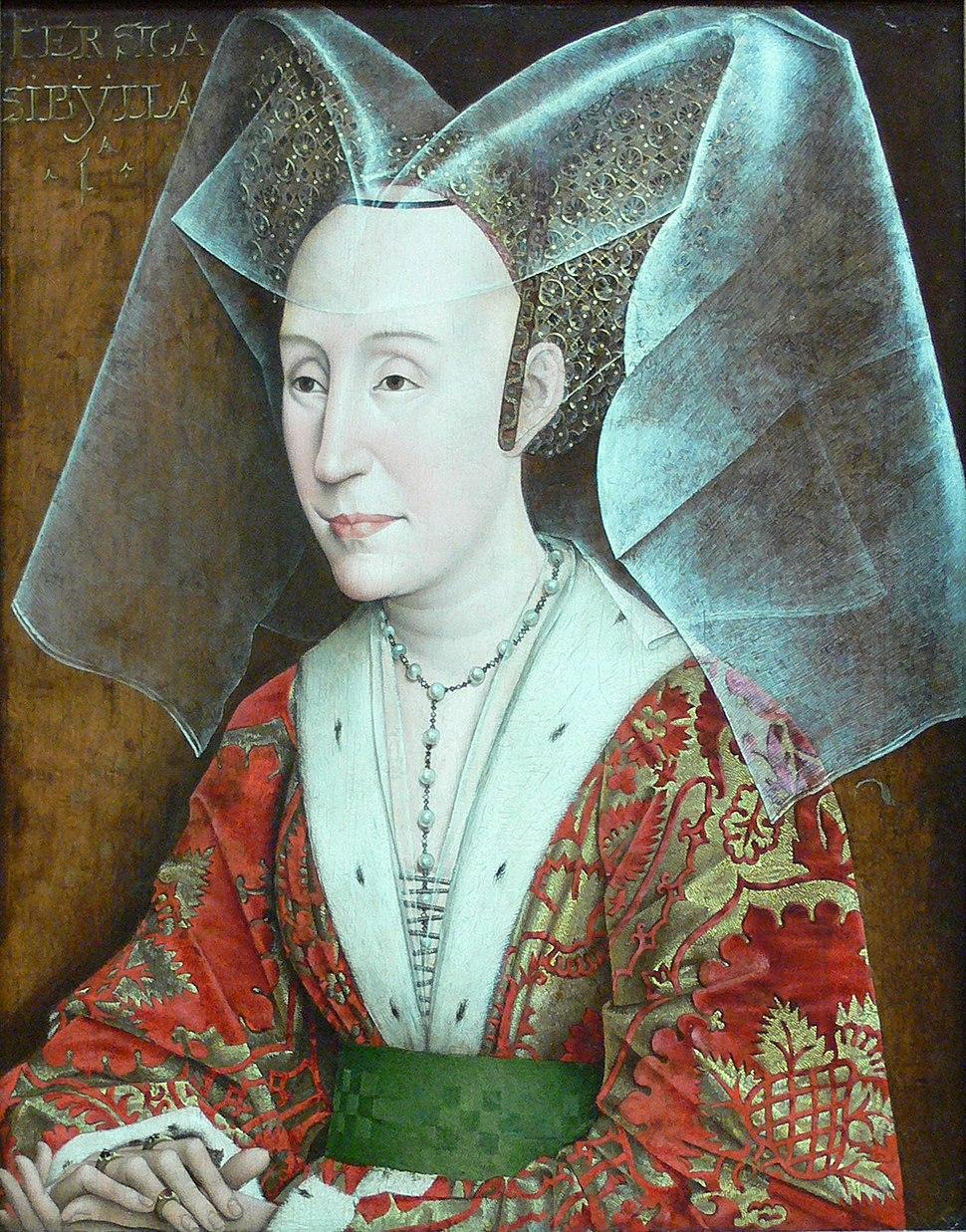 Rogier van der Weyden workshop - Portrait of Isabella of Portugal - without frame
