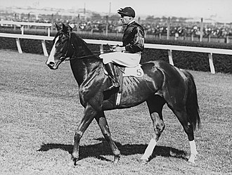 Winx Stakes - Image: Rogilla 1933 VRC Melbourne Stakes Flemington Racecourse Jockey Darby Munro Trainer Les Haigh