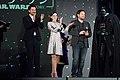 Rogue One- A Star Wars Story Japan Premiere Red Carpet- Diego Luna, Felicity Jones & Gareth Edwards (34989626613).jpg