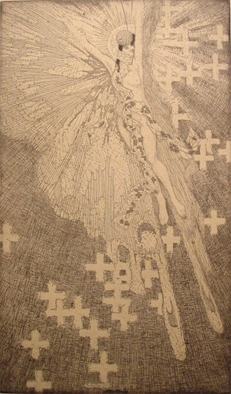 Roi Partridge - Image: Roi Partridge White Butterfly, etching, 1912