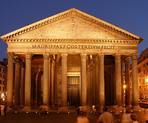 Rom Pantheon bei Nacht
