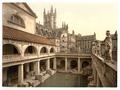 Roman Baths and Abbey, IV, Bath, England-LCCN2002696370.tif
