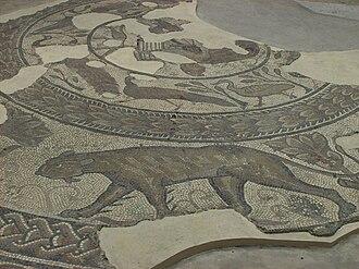 Corinium Dobunnorum - A Roman mosaic in the Corinium Museum in Cirencester