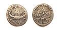 Romeinse munten denarius Marcus Antonius Chortis Speculatorum.jpg