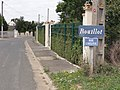 Rouilly (Seine-et-Marne) city limit sign Rouillot.jpg