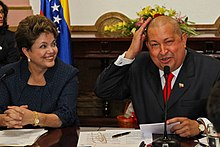 Rousseff and Chávez in Caracas, Venezuela.jpg