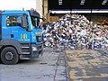 Rubbish Mountain, MAN truck, London E16.jpg