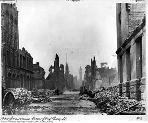 Great Fire of Toronto (1904) - Image: Ruins of the great Toronto fire of 1904