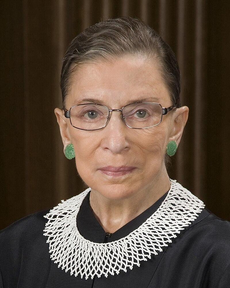 Ruth Bader Ginsburg, official SCOTUS portrait, crop.jpg
