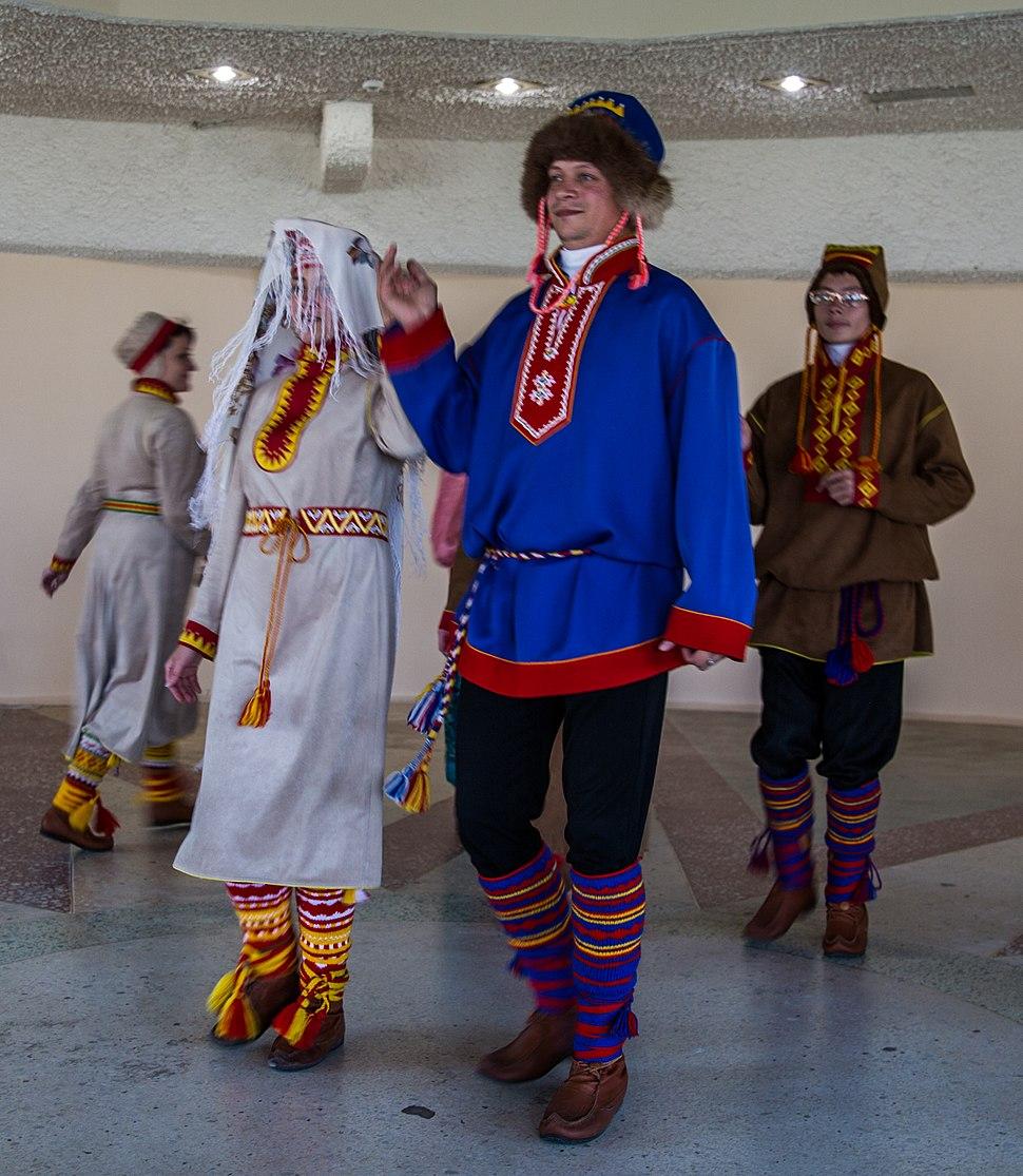 Sámi presentation in the cultural Centre in Lovozero, Kola Peninsula, Russia