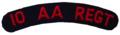 SADF 10 Anti Aircraft Regiment shoulder title.png