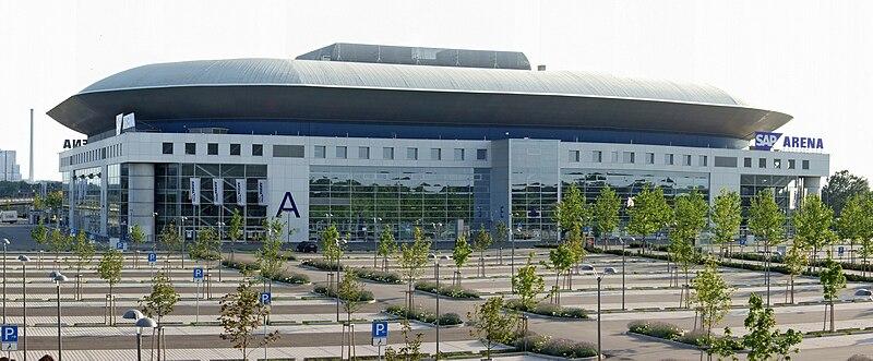 Мангейм (Баден-Вюртемберг, Германия) id: 106-1846.  САП-Арена снаружи.SAP-Арена (нем.  SAP Arena) - арена в городе...