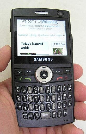 Samsung SGH-i600 - Image: SGH I600 cropped