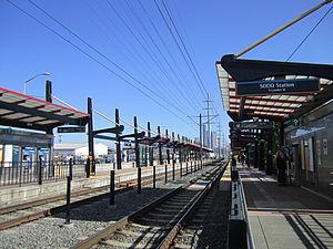 SODO station (Sound Transit) - The northbound platform at SODO Station