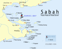 Location of the Batik Island.