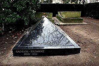 Sadegh Hedayat - Tomb of Sadegh Hedayat, Père Lachaise Cemetery, Paris.