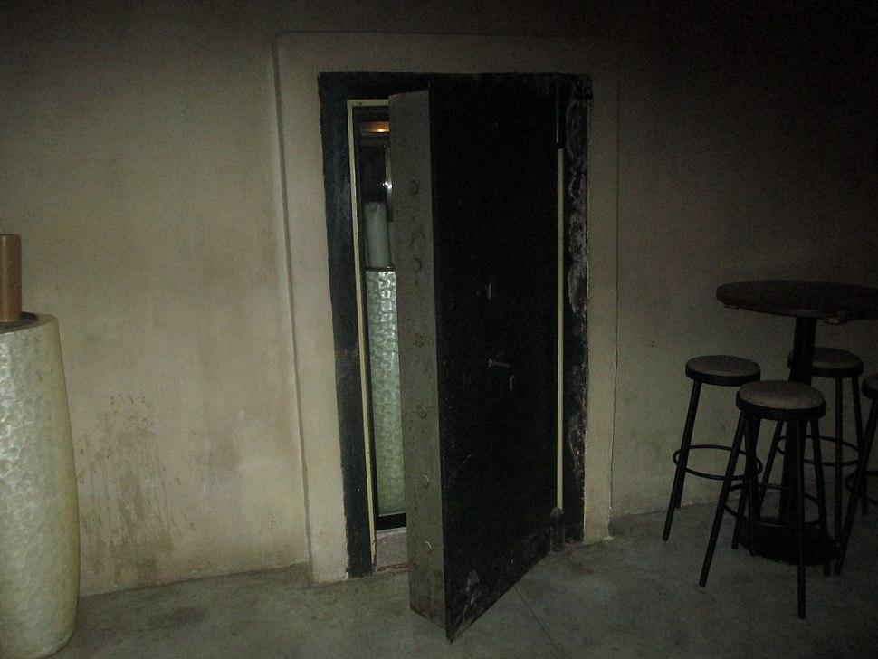 Safe room door in Sarona Compound