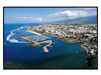 Saint-Pierre, Réunion - An aerial view of part of Saint-Pierre and its port