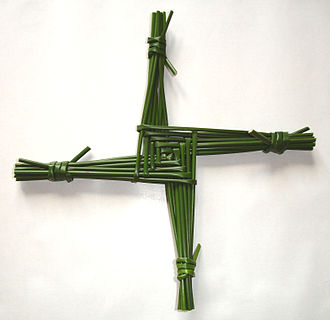 Brigid of Kildare - Saint Brigid's Cross or Crosóg Bhríde