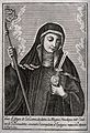 Saint Gertrude. Line engraving by G. Foschi. Wellcome V0032159.jpg