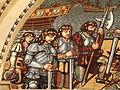Saint Nicholas Catholic Church (Zanesville, Ohio) - tympanum mosaic, Columbus discovers America, detail - crew.jpg